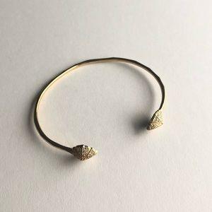 Stella & Dot Gold Cuff Bracelet